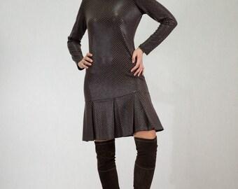 Peplum Bottom Midi Dress