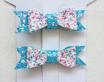 Mini candy blue clips