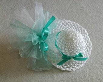 Set of 9 crochet wedding favors Wedding favor basket baptism confirmation communion umbrella Hat Umbrella Hat crochet Basket