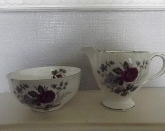 Vintage Royal Grafton Creamer & Sugar Bowl Set - Made in England