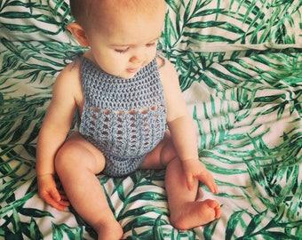 Baby crochet swimwear costume, boho baby