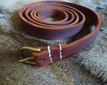 early medieval leather belt.