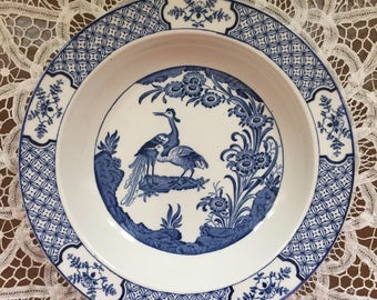 "2 blue & white ""Yuan"" Wood and Sons plates"