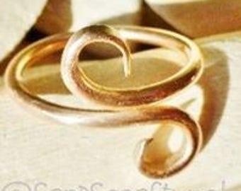 Viking Bronze snake ring