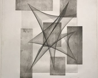 Untitled 2015 by Joel Webb (Intaglio etching / aquatint)