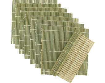"""Green Bamboo Sushi Rolling Mats 9.5"""" x 9.5"""""""