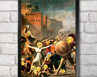 The Intervention of the Sabine Women Poster Print A3+ 13 x 19 in - 33 x 48 cm Emoji Painting Buy 2 get 1 FREE