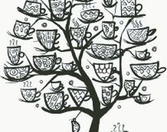 Cross Stitch Pattern/Chart Mug Tree