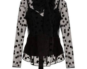 Women trend fashion black extravaganza  top