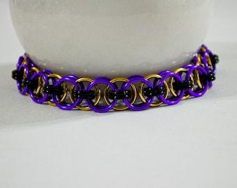 Purple & Gold Helm Bracelet, College Football