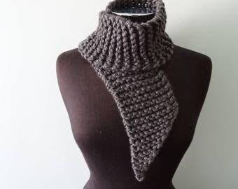 Neck Tie Scarf in grey