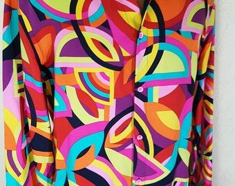 unique versace 100% silk shirt