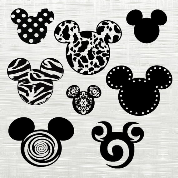 Universal image with regard to free printable mickey mouse silhouette