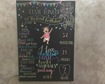 Baby's first birthday sign
