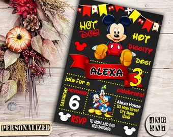 Mickey Mouse / Mickey Mouse Invitation / Mickey Mouse Birthday Invitation / Mickey Mouse Party Invitation / Mickey Mouse Printable / Mickey