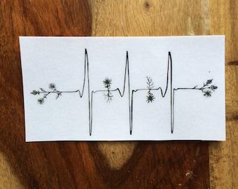 Heartbeat Stickers