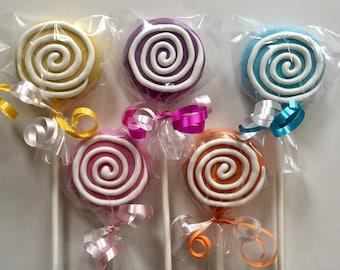Candy land Oreo cookie pop / lollipop party favor / girls birthday / birthday gift / one dozen (12)