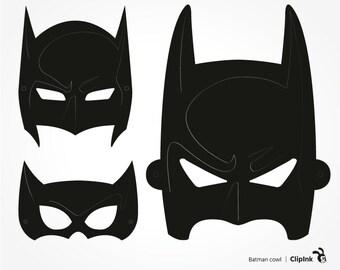 Batman svg, Batman clipart, Batman cowl, silhouette, digital download – svg, eps, png, dxf. Graphic design Die Cut Print Mug Shirt Decal.
