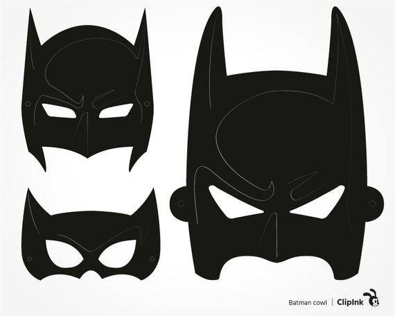 Batman svg Batman clipart Batman cowl silhouette digital Zip Clipart