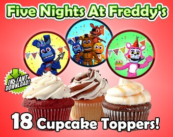 Five Nights at Freddy's Cupcake Toppers!