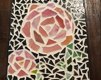 Pink Mosaic Rose