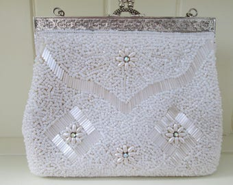 Evening bag vintage handbag | wedding beaded bag