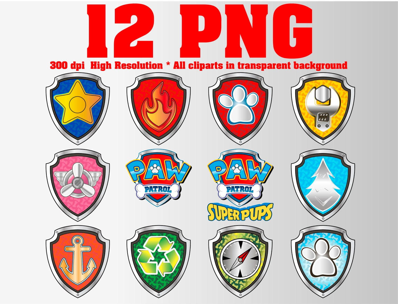 paw patrol clipart 12 png 300 dpi all patrol badges pup tags marshall skye ryder rocky. Black Bedroom Furniture Sets. Home Design Ideas