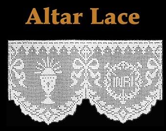 INRI Altar Lace Filet Crochet Pattern