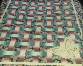 Woven Ribbons large lap quilt