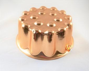 Copper Jello Mold ~ Holds 4 Cups