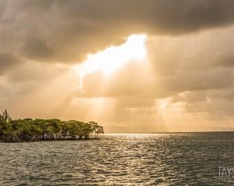 Belize and the Ocean, Fine Art Matte Print, Island Photography, Nautical Decor