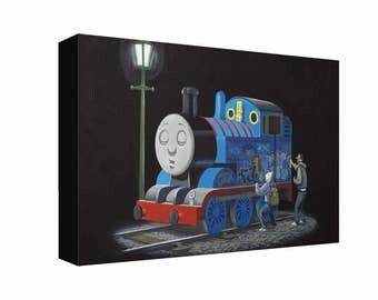 Banksy Graffiti Thomas Tank Engine Canvas Print Ready To Hang