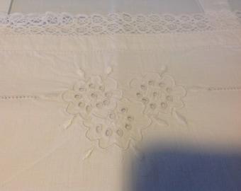 French vintage cotton nightdress or underslip