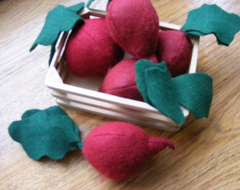 Felt Food Beet, Pretend Play, Garden Vegetable, Play Food