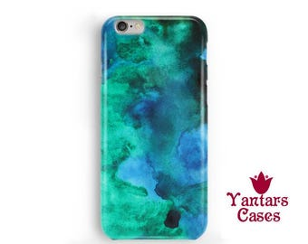 Watercolor stains iphone 6s case. Emerald green iphone 6 case. Abstract iphone 5 case. Emerald iphone 6 Plus case. Abstract phone case