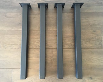 Straight Free Standing Bench Legs - Metal (table legs, metal legs, diy, straight table legs, metal table legs, coffee table legs, legs)