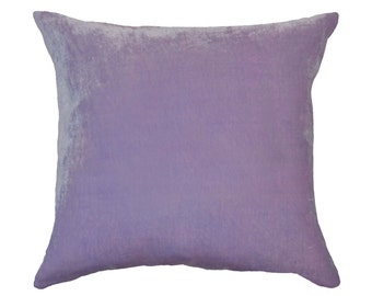 Silk Velvet pillow, lavender, orchid, purple