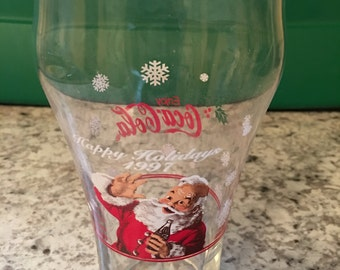 1997 Coca Cola Holiday Glass