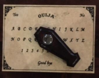 New... Ouija Board With Coffin Planchette