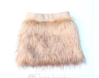 Lux Faux Fur Skirt Newborn to 3 years