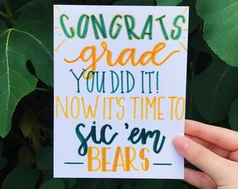 Congrats Grad Baylor Graduation Card!