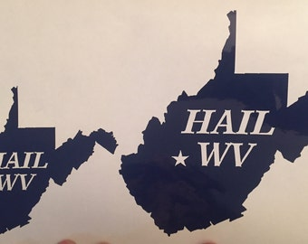 Hail WV Decal Set