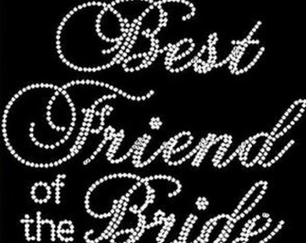 Rhinestone Best Friend Of The Bride Bling Lightweight T-Shirt                                            HD5P /T8XL
