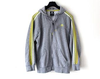 Vintage Adidas Track Jacket Hip Hop Streetwear Rare Adidas Hoodie Large Gray Adidas Tracksuit Adidas Sweatshirt Adidas Windbreaker