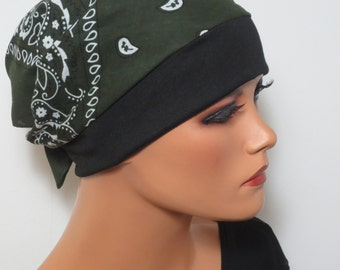 Head scarf Hat/CHEMO Hat khaki practical and comfortable in chemotherapy cancer cancer hair loss surgery hood
