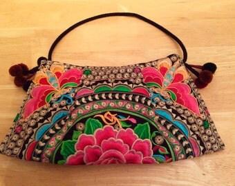 Bag: sewed , colorful nature theme