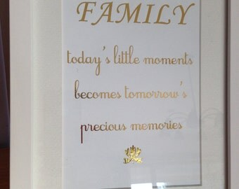 Family Quote - Golf Foil Framed Quote