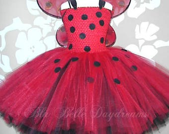 Ladybird Tutu Dress, Party Dress, with wings