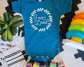i am loved baby bodysuit, onesie