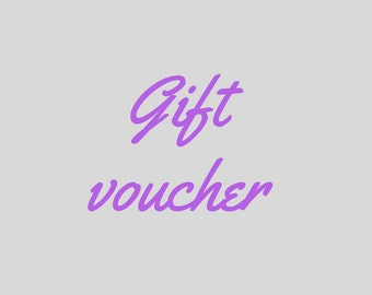 Danique Keepsakes gift voucher